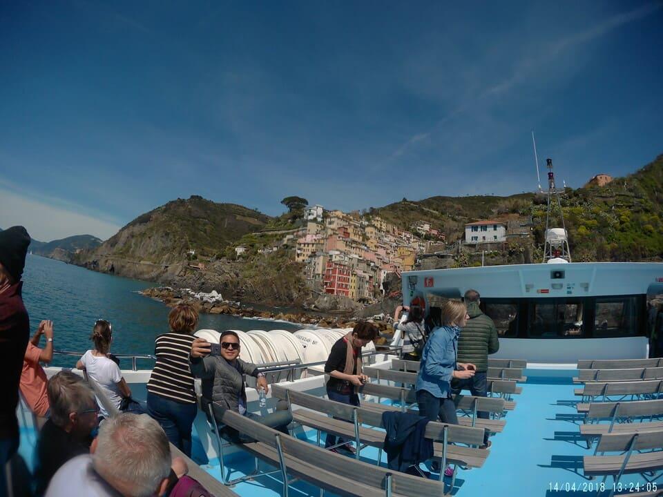 Barco passeio pelas Cinque Terre