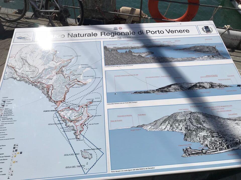 Mapa Cinque Terre e Porto Venere