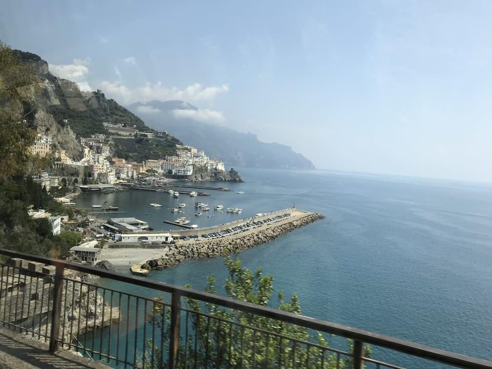 Chegando em Amalfi