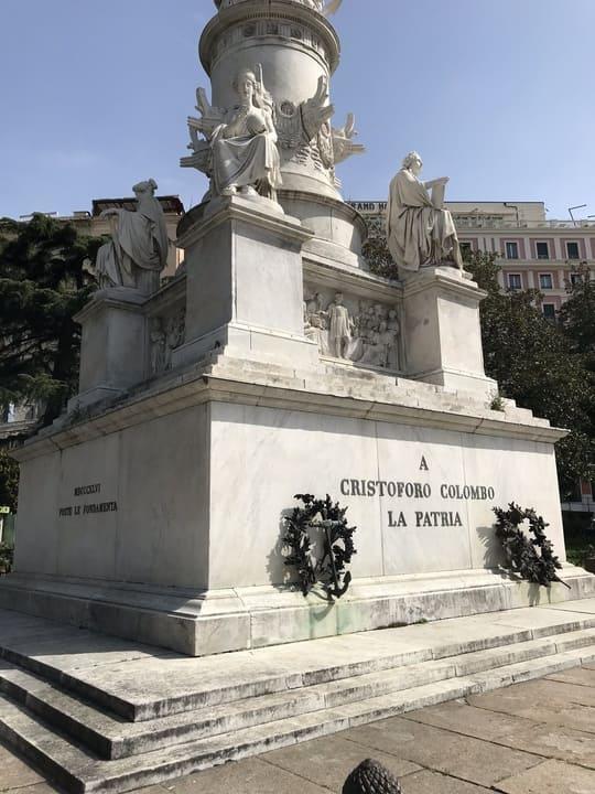 Detalhe monumento Cristovao Colombo em Genova