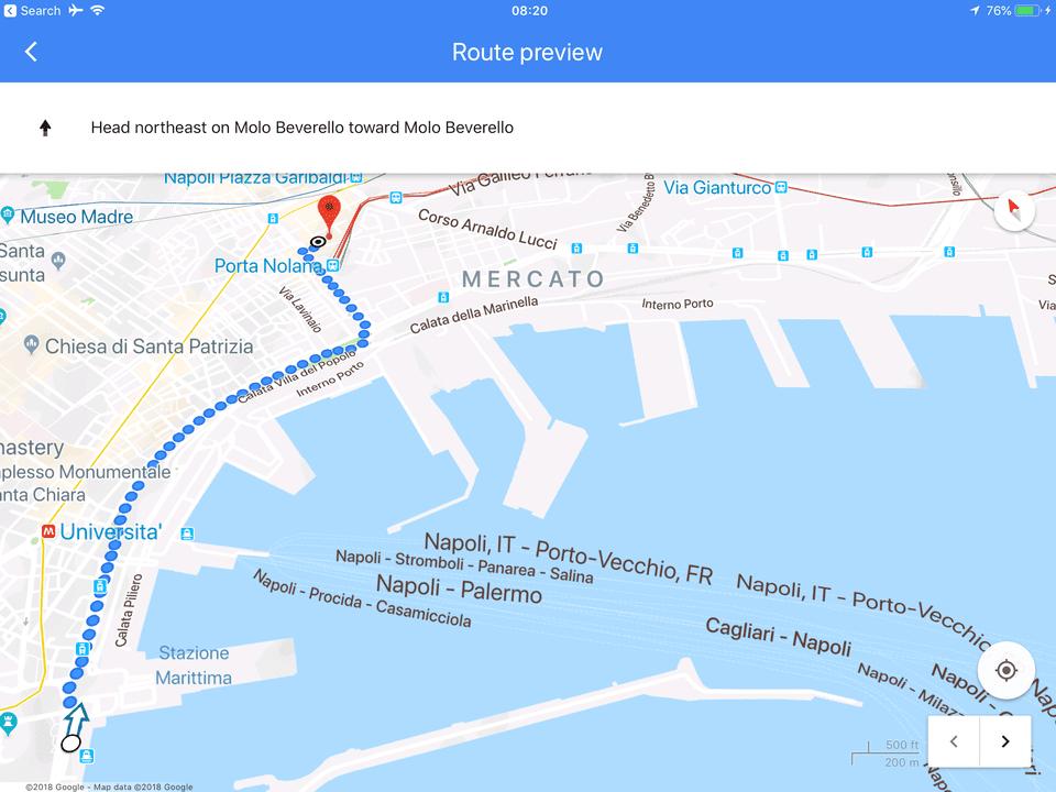 Saída barcos para Capri - Nápoles