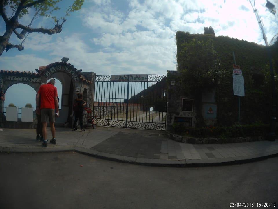 Entrada Villa Rufolo - Ravello