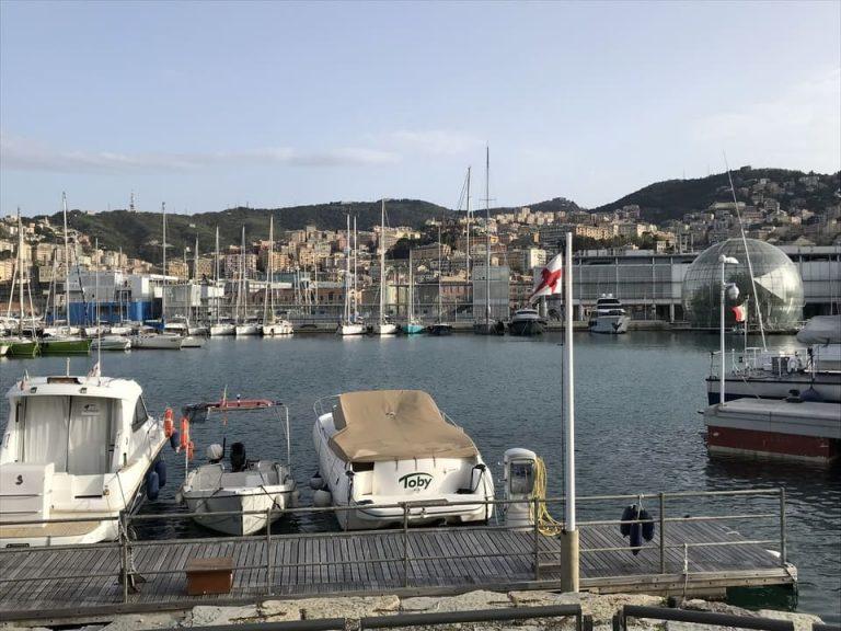 Vista panoramica marina Porto Genova